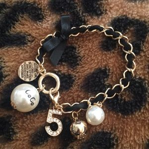 Jewelry - Coco Ribbon Chain Lobster Claw Novelty Bracelet